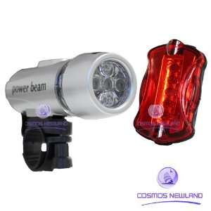 new torch bike bicycle 5 led head light + 5 led rear lamp s