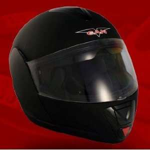 VCAN DOT Modular Full Face Black Motorcycle Helmet   Frontiercycle