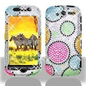 com HTC myTouch 4G Rainbow Circle Full Diamond Bling Hard Case Cover