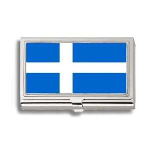 Islands Scotland Flag Business Card Holder Metal Case