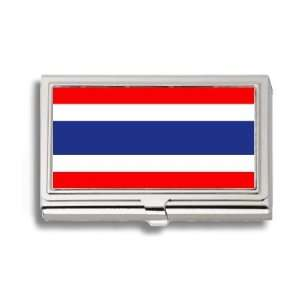 Thailand Thai Flag Business Card Holder Metal Case