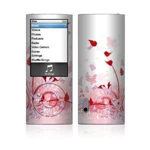 iPod Nano (5th Gen) Decal Vinyl Sticker Skin   Pink Butterfly Fantasy