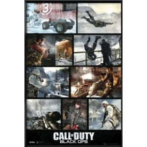 Call Of Duty Black Ops   Framed Gaming Poster (Screenshot Collage