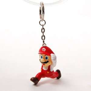 Super Mario Bros Running Figure Key Ring Chain Red Office