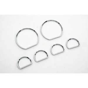 Chrome Interior Dash Gauge Dial Ring Set For Ford Mustang Automotive