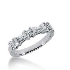 18K Gold Diamond Anniversary Wedding Ring 12 Round Brilliant, 2
