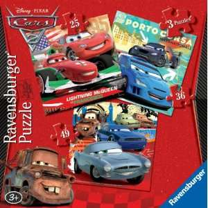 Ravensburger Disney Cars 2 3 In a Box Puzzles Toys
