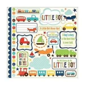Echo Park Paper Little Boy Sticker Sheet 12X12 Elements