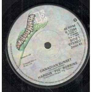 SUNSET 7 INCH (7 VINYL 45) UK ELEKTRA 1978: HARGUS PIG ROBBINS: Music