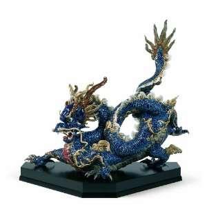 Lladro Great Blue Dragon Figurine