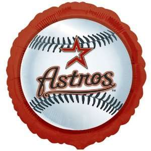 Lets Party By Houston Astros Baseball Foil Balloon