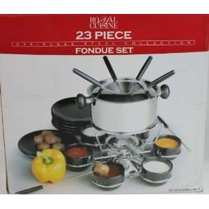 Royal Cuisine Stainless Steel 23 Piece Fondue Set