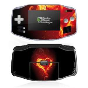 Design Skins for Nintendo Game Boy Advance   Flammenherz