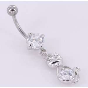 14g 7/16 KITTY Cat Meow Belly Jewelry Jewelry