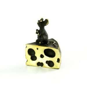 Walter Bosse Brass Mouse On Cheese Figurine