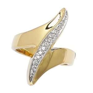 18K Gold Plated Clear Cubic Zirconia Fashion Design Band Ring Jewelry