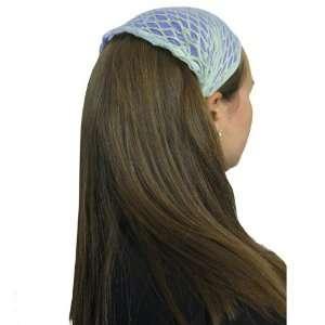 Light Blue Sheer Hair Net Headband