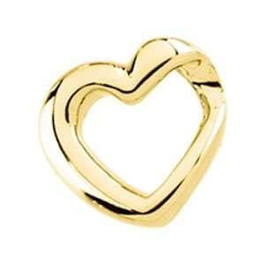14K Yellow Gold Slide Heart Shaped Slide CleverEve Jewelry