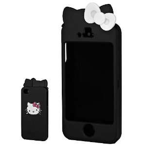 Hello Kitty iPhone Case for iPhone 4/4s   Black Cell Phones