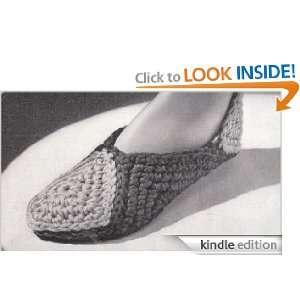 Vintage Crochet Pattern Motif Slippers EBook  (Needlecrafts