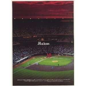 1990 J&B at Home Baseball Game Scotch Whisky Print Ad (Memorabilia