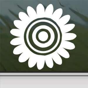 Sunflower White Sticker Window Vinyl Laptop White Decal