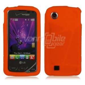 Orange Premium Soft Silicone Rubber Skin Case for LG Chocolate Touch
