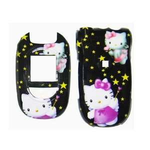 HELLO KITTY BLACK snap on cover faceplate for LG Vx8300 (many other