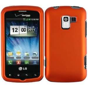 Orange Hard Case Cover for LG Optimus Q Cell Phones & Accessories