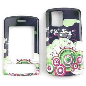 LG SHINE cu720 Green/Pink Circles and Dots Hard Case