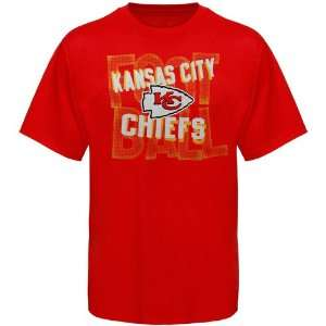 Reebok Kansas City Chiefs Youth Nose Bleeder T Shirt   Red (Medium