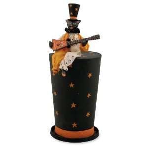 TOP HAT BLACK CAT Halloween Figurine Bethany Lowe NEW