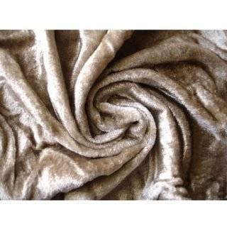 56 Wide Light Brown Velvet Fabric By the Yard Arts, Crafts & Sewing