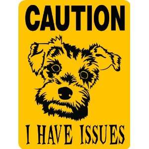 MINI SCHNAUZER DOG SIGN ALUMINUM