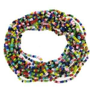 Multi Strand Colored Beads Stretch Bracelet Jewelry
