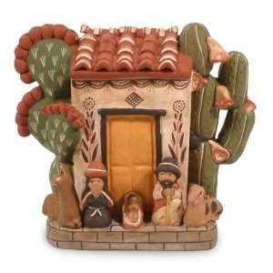 Ceramic nativity scene, Christmas at Home