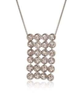 Silver Tone Crystal Mesh Rhinestone Necklace Fashion Jewelry Clothing