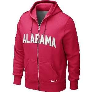 Nike Alabama Crimson Tide Mens Classic Full Zip Fleece Hoodie
