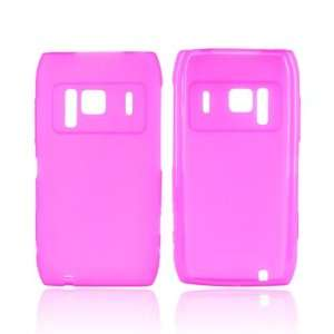 For HOT PINK Nokia N8 Crystal Silicone Skin Case Cover