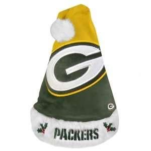 Green Bay Packers NFL Santa Hat   2011 Colorblock Design
