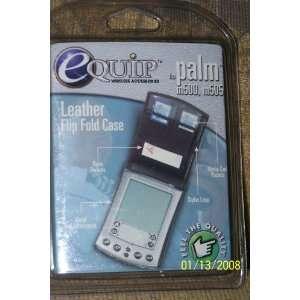 Leather Flip Fold Case for PALM m500, m505 Electronics
