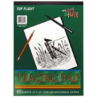 Top Flight Tracing Paper Tablet, Transparent, Erasable