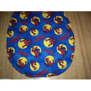 TOILET SEAT LID COVER SEWN FROM AMAZING SPIDERMAN FABRIC