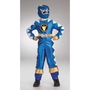 Power Rangers Dinothunder Costume with Mask Blue Power Ranger Size 7