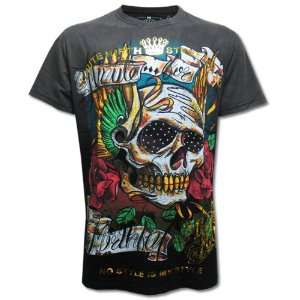 MIRTH Tattoo Size Medium Skull Punk Black Men T SHIRT
