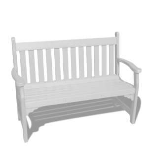 VIFAH V1227 W Outdoor Recycled Plastic Bench, White Patio