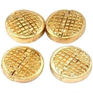 Round Disc Beads Gold Plated Beading 16mm New Approx 4