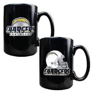 San Diego Chargers NFL 2pc Coffee Mug Set Helmet/Primary Logo