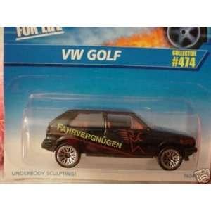 Mattel Hot Wheels 1996 164 Scale Black VW Golf Die Cast Car Collector