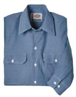 Dickies Mens Long Sleeve Chambray Shirt Clothing